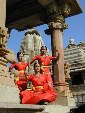 Indian dancers at heritage site